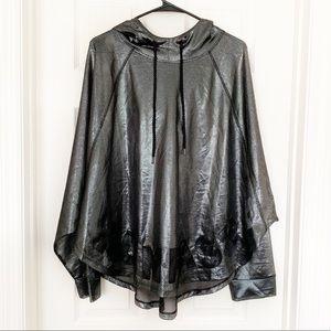 Forever 21+ Metallic Mesh Athletic Jacket/Poncho